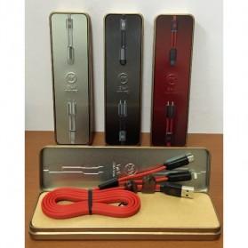 WK Twins 2 in 1 Kabel Micro USB & Lightning - Black - 7