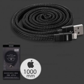 WK Mayar Kabel Charger Braided Lightning - WDC-050 - Black - 1