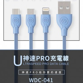 WK Ultraspeed PRO Kabel Charger USB Type C - WDC-041 - Black - 6