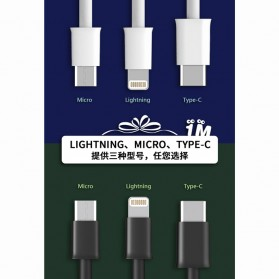 WK Savour Kabel Lightning 1M - WDC-068 - Black - 4