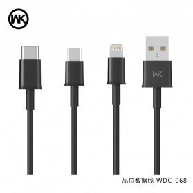 WK Savour Kabel USB Type C 1M - WDC-068 - Black - 3