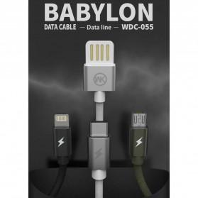 WK Babylon Series Kabel Micro USB 1M - WDC-055 - Black - 4