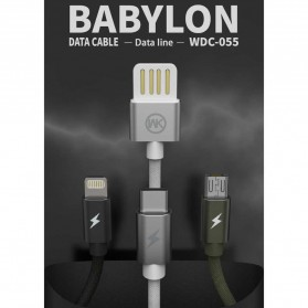 WK Babylon Series Kabel Lightning 1M - WDC-055 - Black - 4