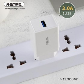WK LEPO Series Charger USB 1 Port QC3.0 3A EU Plug - WP-U62 - White