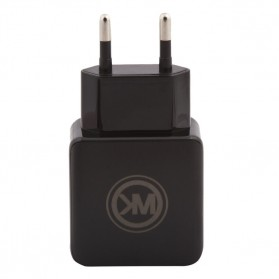 WK Charger USB 2 Port 2.1A EU Plug with Lightning Cable - WP-U11 - Black - 6