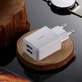 WK SUDA Charger USB 2 Port 2.4A EU Plug - WP-U60 - White