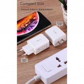 WK SUDA Charger USB 2 Port 2.4A EU Plug - WP-U60 - White - 2