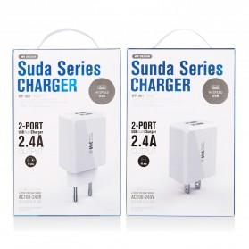 WK SUDA Charger USB 2 Port 2.4A EU Plug - WP-U60 - White - 5