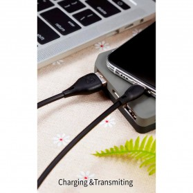 WK Kabel Charger Full Speed USB Type C - WDC-072a - Black - 3