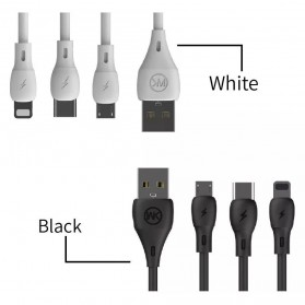 WK Kabel Charger Full Speed USB Type C - WDC-072a - Black - 5
