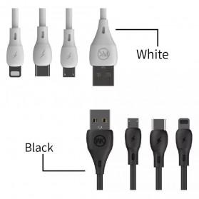 WK Kabel Charger Full Speed Micro USB - WDC-072m - Black - 5