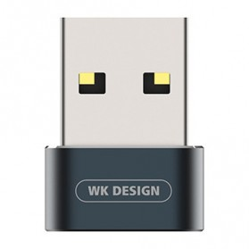 WK USB Type C to USB Type C OTG Plug for Smartphone - WDC-053 - Black