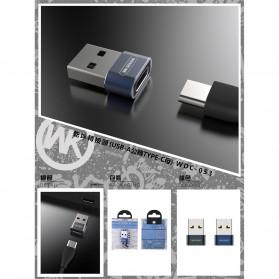 WK USB Type C to USB Type C OTG Plug for Smartphone - WDC-053 - Black - 5
