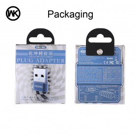WK USB Type C to USB Type C OTG Plug for Smartphone - WDC-053 - Black - 6