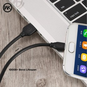 WK Colorful Series Kabel Charger Micro USB - WDC-018 - Black - 2