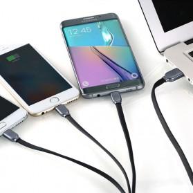 WK Platinum 3 in 1 Kabel Charger Lightning + Micro + USB Type C 1M - WDC-010 - Black - 3