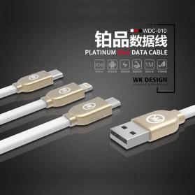 WK Platinum 3 in 1 Kabel Charger Lightning + Micro + USB Type C 1M - WDC-010 - Black - 4