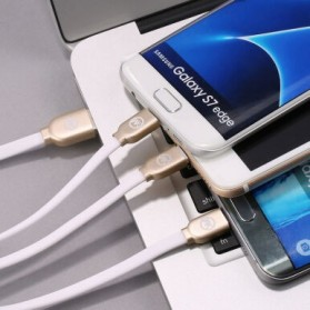 WK Platinum 3 in 1 Kabel Charger Lightning + Micro + USB Type C 1M - WDC-010 - Black - 7