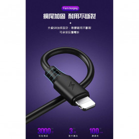 WK Full Speed Pro Kabel Charger Micro USB 2.4A 1 Meter - WDC-092m - Black - 4