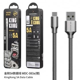 WK Kingkong Kabel Charger USB Type C 5A 1 Meter - WDC-083a - Black