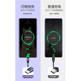 WK Kingkong Kabel Charger USB Type C 5A 1 Meter - WDC-083a - Black - 5