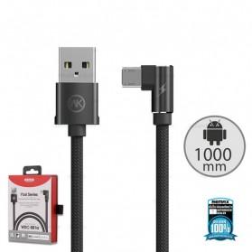 WK Yosi Series Kabel Charger Micro USB L Shape 2.4A 1 Meter - WDC-081m - Black