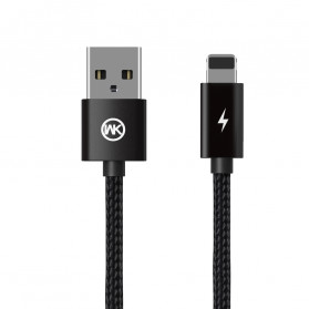 WK Fulnen Series Kabel Charger Lightning 2.4A - WDC-093i - Black
