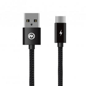 WK Fulnen Series Kabel Charger USB Type C 2.4A - WDC-093a - Black