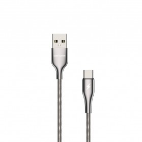 WK Kingkong Pro Series Kabel Charger USB Type C 3A 1 Meter - WDC-114a - Silver