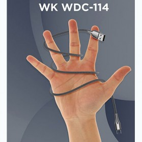 WK Kingkong Pro Series Kabel Charger USB Type C 3A 1 Meter - WDC-114a - Silver - 4