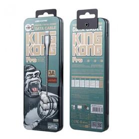 WK Kingkong Pro Series Kabel Charger Lightning 3A 1 Meter - WDC-114i - Silver - 6