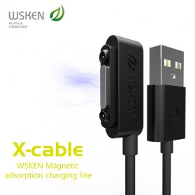 WSKEN Kabel Charger Magnetic for Sony Xperia Z3 Z2 Z1 - Black