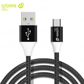 WSKEN Kabel Charger Micro USB Braided Fast Charging 1 Meter - 6956 - Black