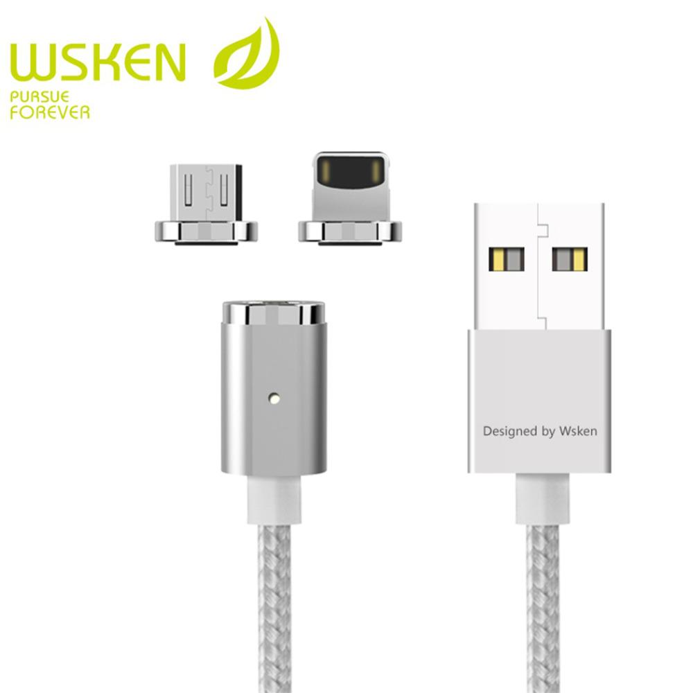 WSKEN Mini 2 Kabel Charger Magnetic Micro USB & Lightning - Silver ...