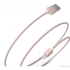 WSKEN 2 in 1 Kabel Charger Lightning & Micro USB Braided - Golden - 2