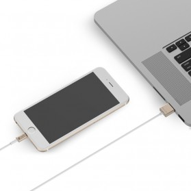 WSKEN 2 in 1 Kabel Charger Lightning & Micro USB Dual Side - Golden - 3