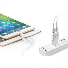 AWEI USB Travel Charger 2 Port 2.1A EU Plug - C-930 - Black - 2