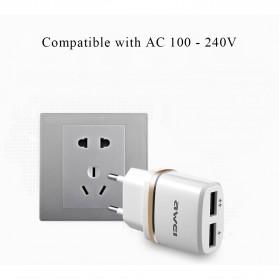 AWEI USB Travel Charger 2 Port 2.1A EU Plug - C-930 - Black - 5