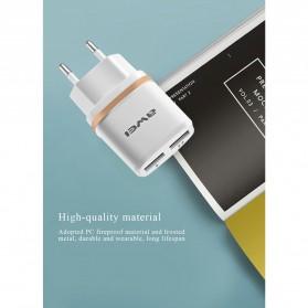 AWEI USB Travel Charger 2 Port 2.1A EU Plug - C-930 - Black - 6