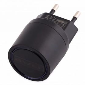 AWEI USB Travel Charger 2 Port 2.1A EU Plug - C-900 - Black - 4
