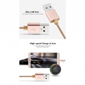AWEI Kabel Charger 2 in 1 USB Lightning + Micro USB - CL-930 - Gray - 5