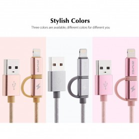 AWEI Kabel Charger 2 in 1 USB Lightning + Micro USB - CL-930 - Gray - 6