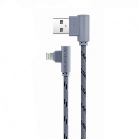 AWEI Kabel Charger Lightning L Shape 1 Meter - CL-91 - Gray