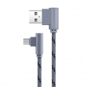 AWEI Kabel Charger Micro USB L Shape 1 Meter - CL-90 - Gray