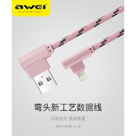 AWEI Kabel Charger Micro USB L Shape 1 Meter - CL-90 - Gray - 3
