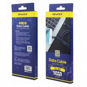 AWEI Kabel Charger Micro USB - CL-50 - Black - 6