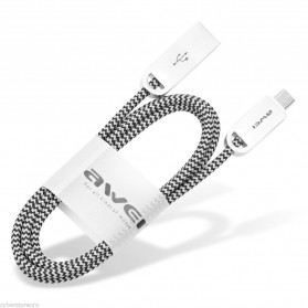 AWEI Kabel Charger Micro USB - CL-30 - Gray - 3