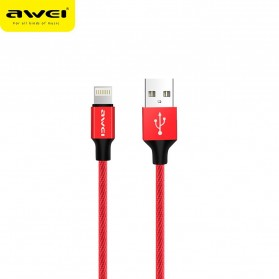 AWEI Kabel Charger Lightning Braided 1m - CL-60 - Red
