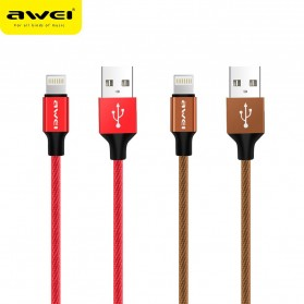 AWEI Kabel Charger Lightning Braided 1m - CL-60 - Red - 6