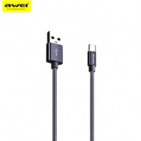 AWEI Kabel Charger Type C Braided 30 cm - CL-988 - Black